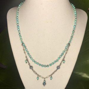 Silpada Turquoise Labradorite double Necklace